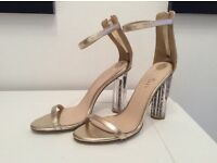 NEW GOLD shoes uk6
