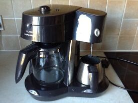 Morphs Richards filter coffee maker with milk warmer and frother
