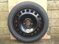 Vauxhall vectra spacesaver spare wheel body jack and wheelbrace