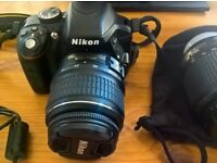 Nikon D3300 DSLR Camera with 2 Lenses-charger,cables-16gb memory card.