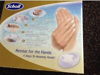 Scholl hand spa and manicure set