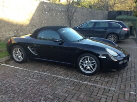 Porsche Boxster 2.7,Black 59K mls FPSH SatNav PCM BOSE Heated seats Parking aid