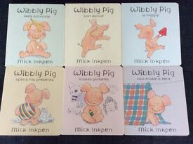 Set of 6 Wibbly Pig board books by Mick Inkpen