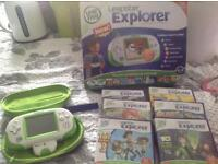 Leapster explorer camera case and games