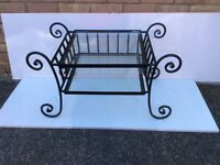 Black wrought iron TV stand/ coffee table