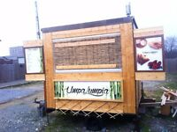 Unique Catering food snack trailer eye catching bamboo style! 6ft x 10ft