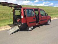 FIAT DOBLO 1.3 DIESEL WHEEL - CHAIR - VEHICLE # WAV MPV # REMOTE ELECTRIC WINCH # FOLD AWAY RAMP #
