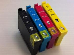 New Compatible Ink Cartridges for Epson T200 T2001/2/3/4 XL fits XP-200/300/310/400/410 WF-2520/2530/2540