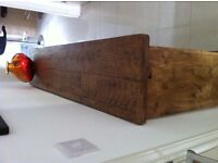 RUSTIC LOOKING PINE PLANK WOOD SIDE BOARD WITH ADJUSTABLE SHELVES