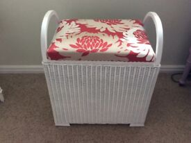 Genuine Lloyd Loom Pretty little bedroom stool/laundry box