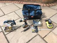 Triple set of power tools