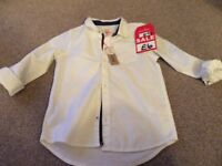 Boys white River Island shirt size 4-5 years