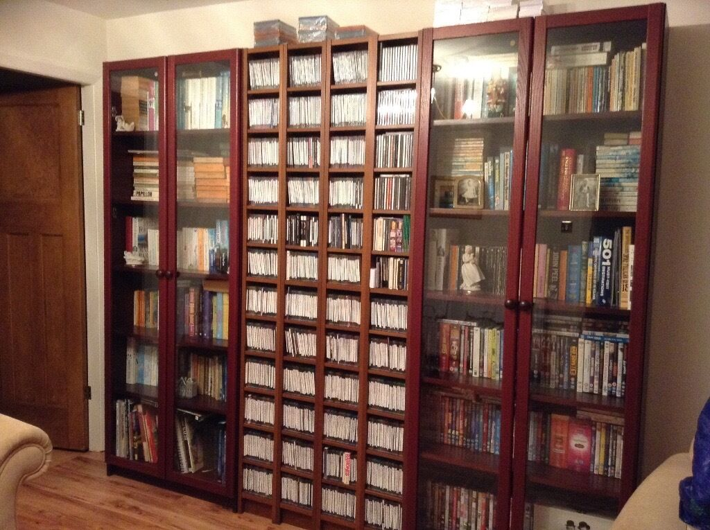 Ikea billy bookcases with doors cd towers in liverpool - Ikea porta cd billy ...