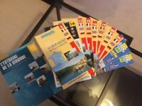 Large collection of charts, French and Dutch channel and atlantic coast plus inland waterways