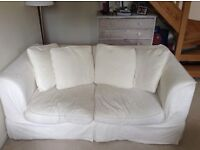 Large cream two seater sofa bed - Only £50