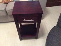 Solid wood mahogany side table