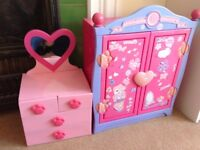 Build a bear wardrobe and dressing table, £15 for both
