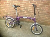 Aluminium 16 Teen Fold Up Cycle 3 speed
