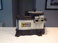 Worksharp 3000 tool sharpener with knife attachment