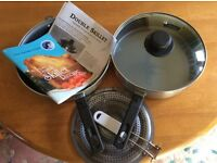 Double Skillet - Suitable for gas or electric stoves - Camping