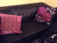 Sofa bed, double bed with memory foam matress ,/desk three doors wardrobe