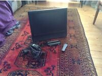 Bush Tv with free view and built in DVD player
