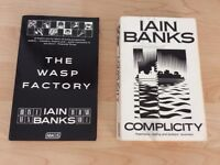 Iain Banks signed books, The Wasp Factory(rare) and Complicity