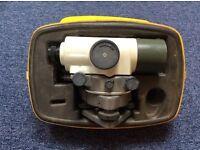 Vintage Watts Surveyor's Dumpy Level (2nd Generation), Glunz Tripod & Metric Staff