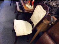 Reduced set of 6 vintage French style chairs