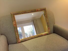 Mirror with Patterned Frame