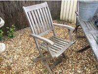 Teak garden chairs X 2