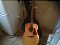 Fender acoustic guitar,£95.00