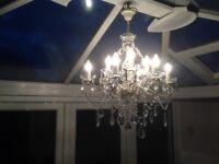 9 Light Crystal Chandelier