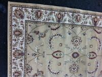 Lovely large Dunelm rug. Beige. Oriental design. Easy clean synthetic material. PENRITH