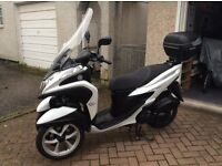 Yamaha tricity 125,three wheeler scooter with only just over1000 miles