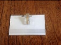 40 Pin and Clip Conference Card Holders for Badges