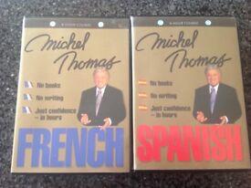 Michel Thomas French & Spanish Language CDs
