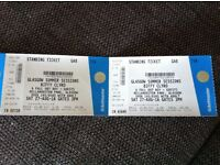 2 tickets for Biffy Clyro at Bellahouston Park 27th August