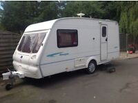 Bailey ranger 460/2 berth caravan 2002 kingsize bed or 2 singles large end bathroom /dressing room