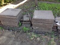 26 paving slabs £10 the lot - also some half slabs for free