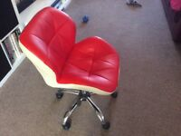 2 Comfortable swivel chairs.