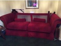 Free, large 3/4 seater. Have back covers but no cushions, very comfy, need gone asap