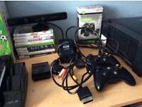 Xbox 360 - Includes 9 games, 2 rechargeable controllers, 2 250 GB Hard Drives