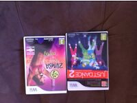 Wii games just dance 2 and Zumba fitness