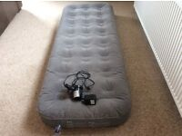 Air Bed Mattress single with Duvet and Cover - all only used once