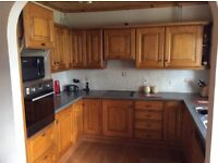 Kitchen units, hob and sink for sale