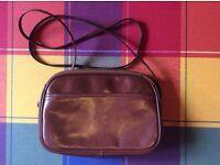Leather clutch/ shoulder bag