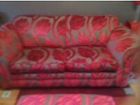 Sofa bed and matching foot stool