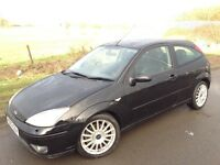 03 REG FORD FOCUS ST170 6 SPEED, LOW MILEAGE OF 86K, 11m MOT UNTIL FEB 2018, HPI CLEAR, 2 OWNERS