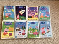 Peppa Pig DVDs x 8 in excellent condition